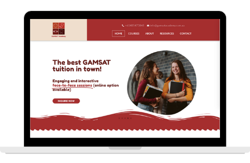GAMSAT Academy Website